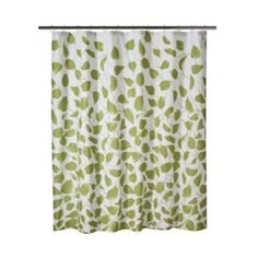 Threshold™ Cotton Slub Floral Shower Curtain - Green Quick Information