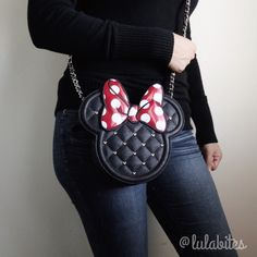 """Minnie Crossbody Bag New by Loungefly X Disney. The essential crossbody bag for every true-blue Minnie Mouse fan Quilted synthetic material with Minnie Mouse-shaped design and studs Zippered closure Interior organizing pockets 8.5""""Lx2""""Dx8.6""""H.  Faux leather material. ❤️Will not respond to offers on comment section use offer button please Disney Bags Crossbody Bags"""