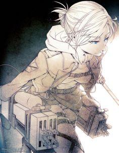 Annie Leonhart Attack on Titan~ Shingeki no Kyojin Armin, Eren And Mikasa, Snk Annie, Annie Leonhart, Humanoid Creatures, Fan Art, Noragami, Dark Fantasy, Attack On Titan