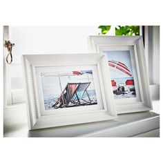 SÖNDRUM Frame, white, Decorate with pictures you love. This frame has a detailed bead edge and comes in many sizes, perfect for a picture wall. Plastic Box Storage, Storage Boxes, Floating Picture Frames, Matching Paint Colors, Neutral, Paint Stripes, Painted Boards, Old Wall, Decorating With Pictures