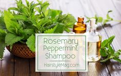 Homemade Rosemary Peppermint Shampoo - Gentle and effective homemade shampoo that works great and leaves your hair smelling lovely.