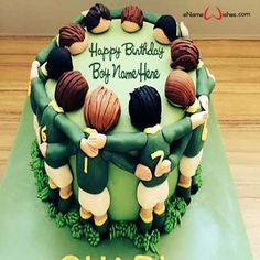 Write name on Rugby Birthday Wish Cake with Name with Name And Wishes Images and create free Online And Wishes Images with name online.