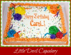 Cinco de Mayo Birthday sheet cake!