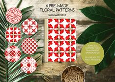 Floral Illustration SALE Advert Kit by Gina Heyer on Tile Patterns, Flower Patterns, Print Patterns, Pink And White Background, Pattern Cutting, Floral Illustrations, Cut Flowers, Pattern Wallpaper, Something To Do