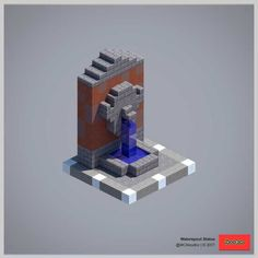 Waterspout-Statue – Architektur und Kunst - Minecraft World Plans Minecraft, Video Minecraft, Minecraft Building Guide, Minecraft Castle, Amazing Minecraft, Minecraft Tutorial, Minecraft Blueprints, Minecraft Bedroom, Building Games
