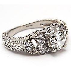 european cut diamond antique ring - Google Search