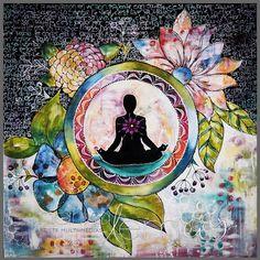 Namaste card 1 by MarikaLemayArtiste on Etsy-Mystical, visionary and fantasy art. Discover some of the most spiritual artwork by amazing artist from around the world. Art Buddha, Buddha Kunst, Buddha Painting, Mandala Art, Art Zen, Yoga Kunst, Namaste Art, Namaste Yoga, Meditation Art