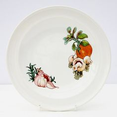 Vintage 1970s Wedgwood Gourmet Salad Dinner Plate Retro Vegetables