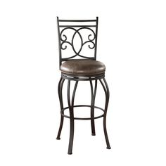 Add elegance and functionality to your dining room or bar with this attractive leather swivel barstool. This stool features a luscious cocoa finish and flared legs for a cultivated look, and the added adjustable leg levelers ensure stability.