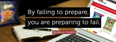 By #failing to prepare, you're preparing to fail. #inspiration #failure #positive #quoteoftheday