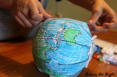 Make a globe from a flat paper map