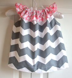 Baby clothes Baby dress kids childrens clothes girls dress pillow case dress Chevron Easter on Etsy, $32.00