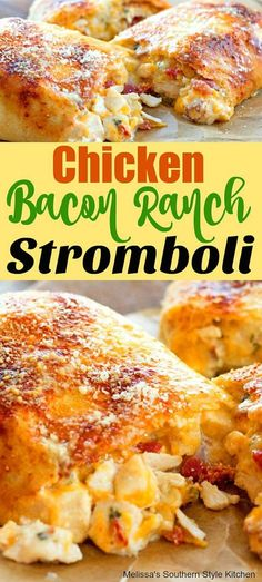 dinner recipes for family main dishes Chicken Bacon Ranch Stromboli Quesadillas, Kitchen Recipes, Cooking Recipes, Meal Recipes, Yummy Recipes, Recipies, Burritos, Sandwiches, Bacon Appetizers