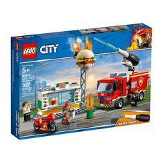 Playset City Fire At The Burguer Restaurant Lego Burger Restaurant, Burger Bar, Local Burger, Shop Lego, Buy Lego, Lego Toys, Lego Duplo, Toy Trucks, Fire Trucks