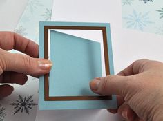 Falling Snow Holiday Shaker Card : Decorating : Home & Garden Television