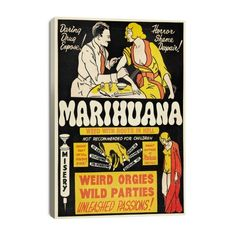 Find it at the Foundary - 27 in. Marihuana: Weed with Roots in Hell Canvas Print $94