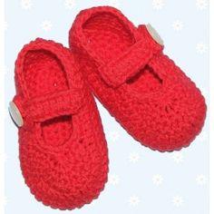 Madeliefke®: Crochet Mary Jane babyshoes.