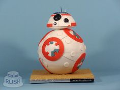 Amazing Custom Cake in the Shape of BB-8, The Rolling Spherical Droid From 'Star Wars: The Force Awakens'