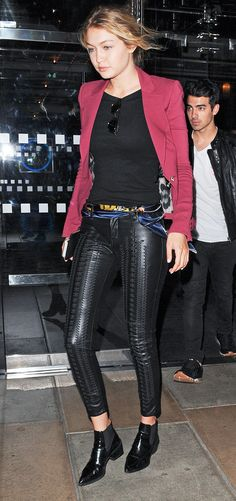 Gigi Hadid's Favorite Vegan Leather Leggings Are Finally Available via @WhoWhatWear