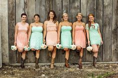 Medium Wedding Bouquet Ivory Mint Coral Pink by StellaDesignsShop