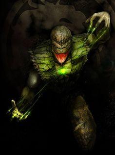 Reptile from Mortal Kombat Reptile Mortal Kombat, Mortal Kombat Xl, Video Game Art, Video Games, Mundo Dos Games, Mortal Combat, Wolf, Mileena, Video Game Characters