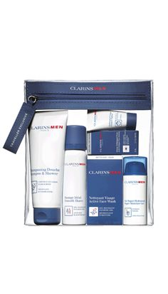 Clarins Men Grab and Fly Set is Available at both Arrivals and Departures store for just $56! Pre-order at www.bengalurudutyfree.in