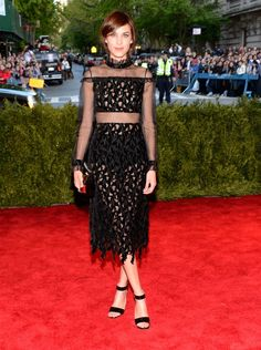 """Pin for Later: It's Impossible to Describe Alexa Chung's Style The theme of the Spring 2013 Costume Institute Gala was """"Punk: Chaos to Couture."""" Alexa definitely fit right in."""