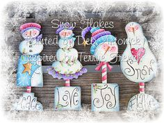 Snowflakes, by Deb Antonick, email pattern packet