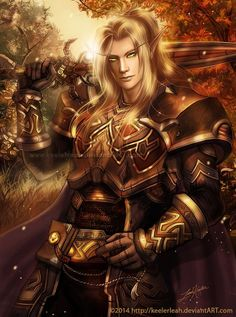 m Elf Paladin plate Sword forest hills Community Patrol ☆☆Blood Elf Ready for Battle by Keelerleah☆☆ Fantasy Male, Fantasy Warrior, Dark Fantasy, Art Warcraft, World Of Warcraft 3, Elf Characters, Fantasy Characters, Male Elf, Elf Warrior