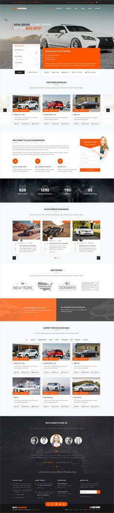 Auto showroom is clean and modern design responsive #Joomla template for Car Dealer & #Automotive #dealership who sell, buy or lease vehicles website download now..