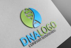 DNA Logo by Josuf Media on @creativemarket