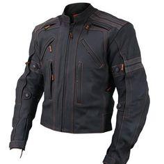 Vulcan Ultimate VTZ-910 Street Black Premium Cowhide Armored Motorcycle Jacket #Xelement #Motorcycle
