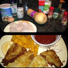 Paleo Fish and Chips with cave Ketchup