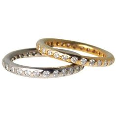 1Ct Diamond Infinity Band Ring 18k Gold ($685) ❤ liked on Polyvore featuring jewelry, rings, wedding rings, gold infinity ring, stacked wedding rings, yellow gold wedding rings and stackable rings