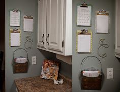 Pretty Clipboards to organize paper clutter