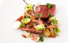 Venison, chocolate, fig, turnip and Brussels sprouts by Marcus Wareing