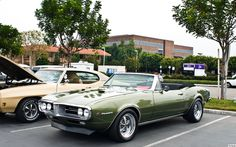 1967 Pontiac Firebird convertible with top down - Verdoro Green Poly - fvl Pontiac Firebird For Sale, Firebird Trans Am, Convertible, Pontiac Cars, Cool Toys For Girls, Pony Car, Car Images, American Muscle Cars, Station Wagon