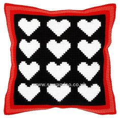Shop online for Hearts Cushion Front Chunky Cross Stitch Kit at sewandso.co.uk. Browse our great range of cross stitch and needlecraft products, in stock, with great prices and fast delivery.