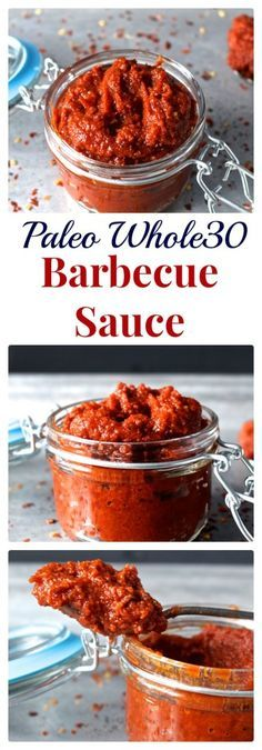 Paleo Whole30 Barbecue Sauce- this easy sauce is smokey, a little sweet with just the right spice. Perfect for grilling. #bbq #whole30 #barbeque