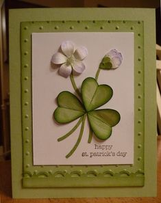 shamrock card made with hearts | shamrock box adds another cool fun shamrock cards created this