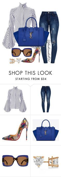 """Untitled #1442"" by fashionkill21 ❤ liked on Polyvore featuring Christian Louboutin, Yves Saint Laurent, Gucci and Allurez"