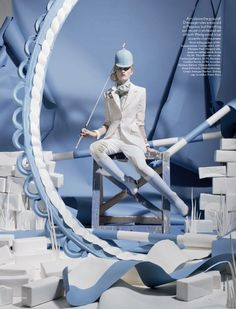 """Olympic Inspired Fashion, Lara Mullen in """"Paper Plates"""" Photographed by Tim Gutt & Styled by Charlotte Pilcher for Vogue UK, June 2012 Foto Fashion, Fashion Shoot, Editorial Fashion, Fashion Art, Fashion Design, Sport Editorial, Tim Walker, Vogue Uk, Vogue Korea"""