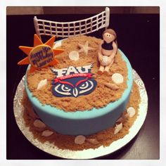 Beach volleyball cake