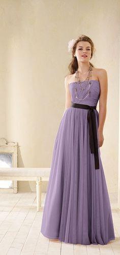 Style 8602 - Bridesmaid Dresses  | Weddington Way, Brown with green ribbon :)