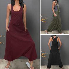 adf477b3e26 Designer Sleeveless Bib Pants Harem Trousers Jumpsuit Playsuit Overalls -  NewChic Mobile Plus Size Romper