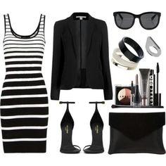 Onyx & White Polished Looks