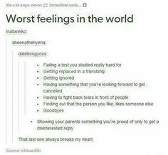 The last one is pretty much my life...
