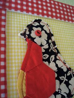 Use fabric scraps to create a custom chicken wall art piece for home decorating or gift giving this spring. Designer Chasity Gordon recommends making a pastel chick for Easter. Three different finished examples included. Applique Wall Hanging, Hanging Banner, Wall Art Crafts, Diy Wall Art, Wall Patterns, Quilt Patterns, Sewing Patterns, Quilting Projects, Sewing Projects