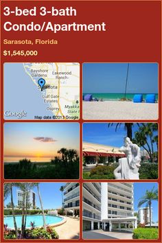 3-bed 3-bath Condo in Sarasota, Florida ►$1,545,000 #PropertyForSale #RealEstate #Florida http://florida-magic.com/properties/2606-condo-for-sale-in-sarasota-florida-with-3-bedroom-3-bathroom
