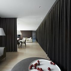 Casa A by Vaillo Irigaray and Iñigo Beguiristain 3 Theatrical Apartment Design With Drapes As Space Dividers
